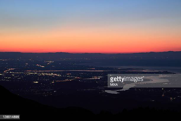 evening view of ise, ise, mie, japan - ise mie stock pictures, royalty-free photos & images
