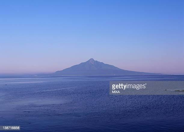 Evening View of Mount Rishiri, Rebun, Hokkaido, Japan