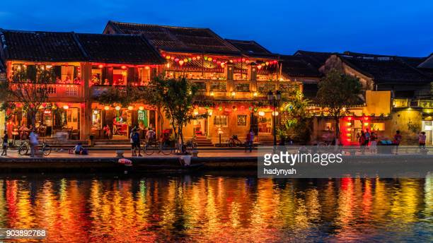 Evening view of Old Town in Hoi An city, Vietnam
