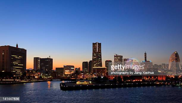 Evening view of  Yokohama skyline