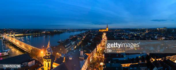 evening view on the shopping street of kampen in overijssel, the netherlands - overijssel stock pictures, royalty-free photos & images