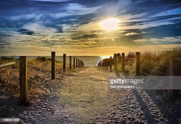 Evening walk at the beach