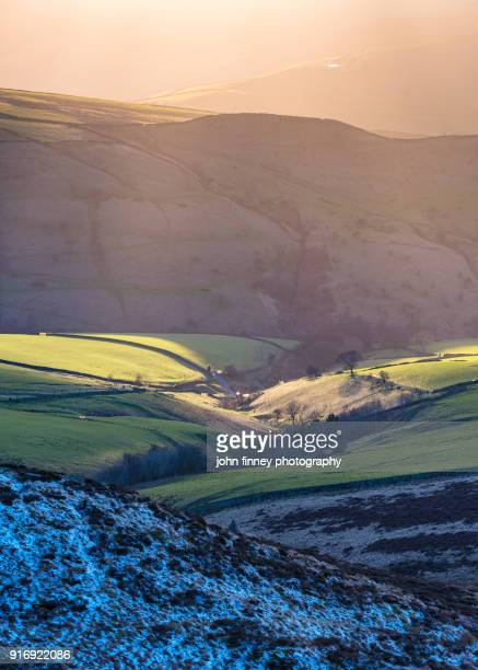 Evening winter light. English Peak District. UK.