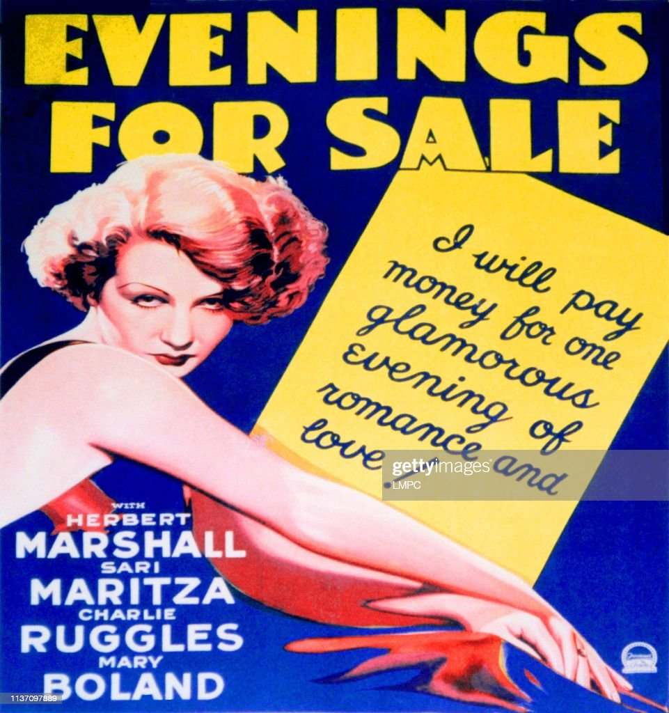 Evenings For Sale 1932