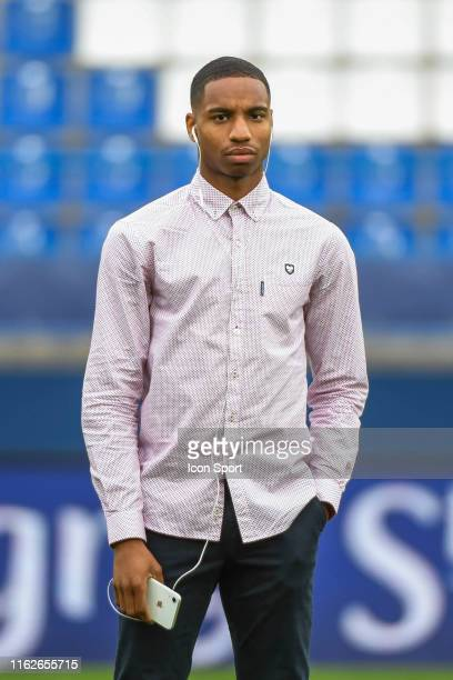 Evens Joseph of Caen before the Ligue 2 match between Caen and Chambly at Stade Michel D'Ornano on August 16, 2019 in Caen, France.
