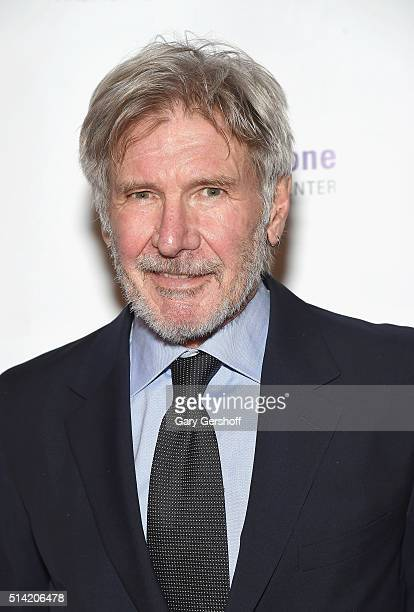 Event Chair actor Harrison Ford attends the 2016 FACES Gala at Pier Sixty at Chelsea Piers on March 7 2016 in New York City