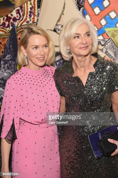 Event Chair Naomi Watts and Chair of Board Eileen Guggenheim attend the 2018 TriBeCa Ball at New York Academy of Art on April 9 2018 in New York City