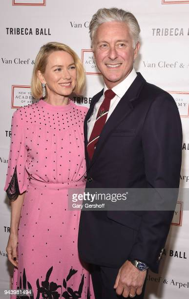 Event Chair Naomi Watts and president of the New York Academy of Art David Kratz attend the 2018 TriBeCa Ball at New York Academy of Art on April 9...