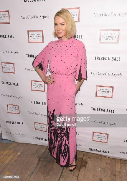 Event Chair Naomi Watts attends the 2018 TriBeCa Ball at New York Academy of Art on April 9 2018 in New York City