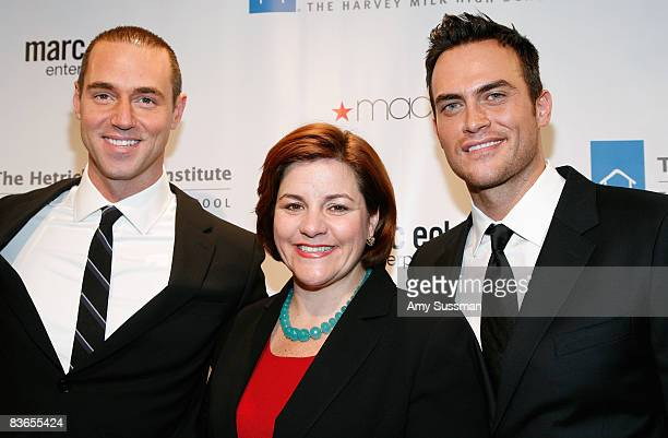 Event Chair Rob Smith Speaker of New York City Council Christine C Quinn and actor Cheyenne Jackson attend the 2008 Emery Awards at Cipriani on...