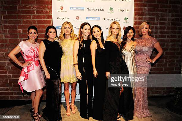 Event Chairs Sabina Nathanson Yifat Oren Jackie Winnick Jenni Kayne Mira Lee Kelly Sawyer Norah Weinstein and Ali Taekman attend the 2014 Baby2Baby...