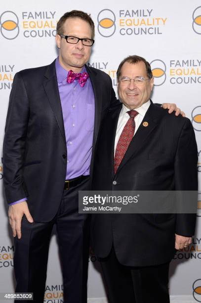 Event cochair Frank Bua and United States Congressman Jerrold Nadler attend the Family Equality Council's 2014 Night at the Pier at Pier 60 on May 12...