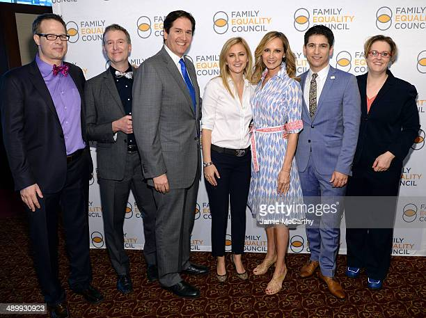 Event cochair Frank Bua Family Equality director William Sherr Chairman of the Broadway League Nick Scandalios Lauren BlitzerWright singer Chely...