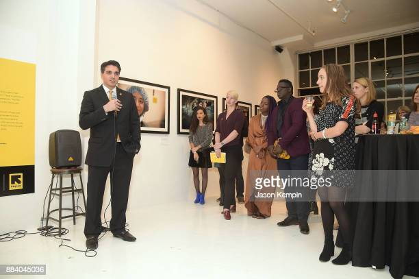 Event cochair Paul Nouri attends the GenR Force For Change Photo Exhibition at Drift Studios on December 1 2017 in New York City