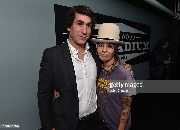 Event cochairs Brent Bolthouse and Linda Perry attend An Evening with Women benefiting the Los Angeles LGBT Center at the Hollywood Palladium on May...