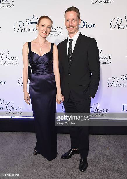 Event cochairs dancers Gillian Murphy and Ethan Stiefel attend the 2016 Princess Grace Awards Gala at Cipriani 25 Broadway on October 24 2016 in New...