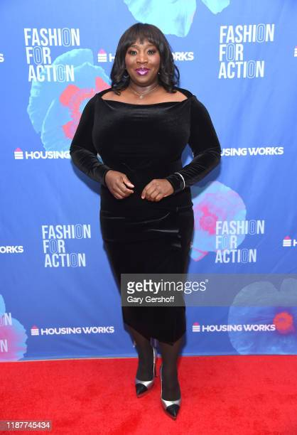 Event cohost Bevy Smith attends Housing Works' Fashion for Action on November 14 2019 in New York City