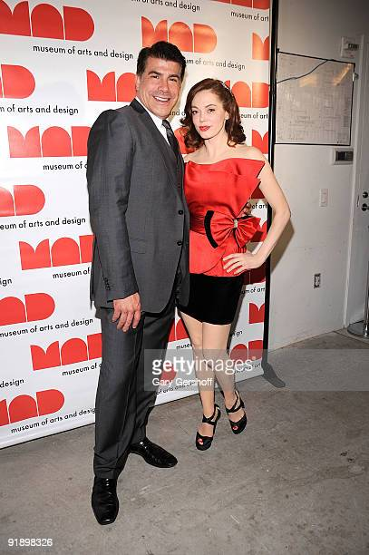 Event cohosts actors Bryan Batt and Rose McGowan attend the 2009 MAD Paperball Gala at Museum of Art and Design on October 14 2009 in New York City