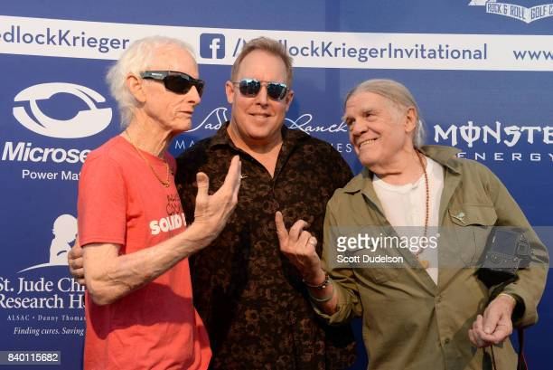 Event cohosts Robby Krieger Scott Medlock and photographer Henry Diltz attend the 10th annual Medlock Krieger All Star Concert benefiting St Judes...