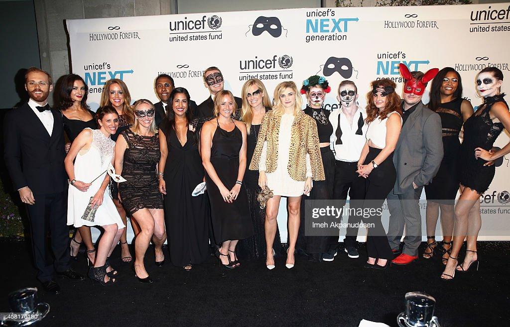 The UNICEF Dia de los Muertos Black & White Masquerade Ball : News Photo