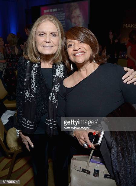 Event Committee Cochair Gloria Steinem and Actress Debbie Allen attend Equality Now's third annual Make Equality Reality Gala on December 5 2016 in...