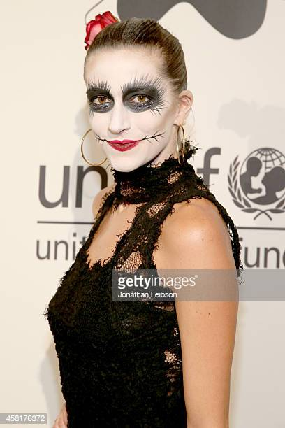 Event committee member at The UNICEF Dia de los Muertos Black White Masquerade Ball at Hollywood Forever Cemetery benefitting UNICEF's education...