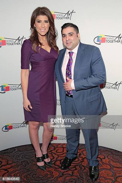 Event Emcee and NBC 4 New York's Lauren Scala and Honoree Umesh Trikha SVP of Wealth Management at Merrill Lynch Global Wealth Management attends the...
