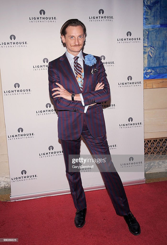 Event fashion host and Vogue European Editor at Large Hamish Bowles attends Lighthouse International's A Posh Affair gala at The Oak Room on May 11, 2010 in New York City.
