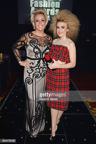 Event founder Tessa Hartmann and Tallia Storm arrive at the Scottish fashion invasion of London at the 9th annual Scottish Fashion Awards at 8...