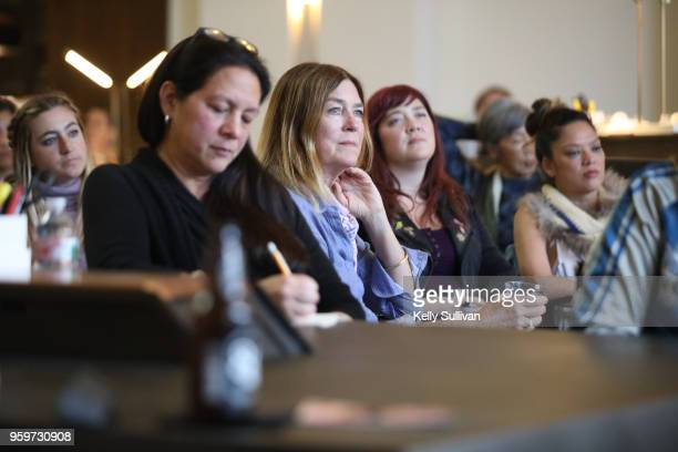 Event guests attend the Getty Images SUBJECT / OBJECT / CREATOR panel discussion on the evolution of the female gaze at Argonaut on May 17 2018 in...
