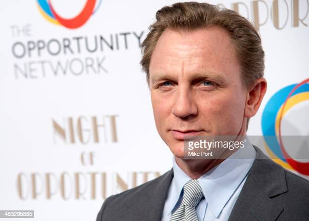 Event honoree actor Daniel Craig attends The Opportunity Networks 7th Annual Night of Opportunity at Cipriani Wall Street on April 7 2014 in New York...