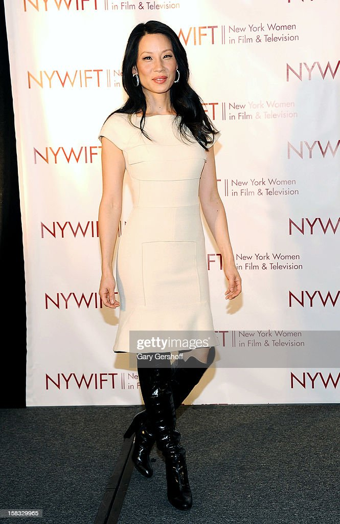 Event honoree, actress Lucy Liu attends the 2012 New York Women In Film And Television Muse Awards at the Hilton New York on December 13, 2012 in New York City.