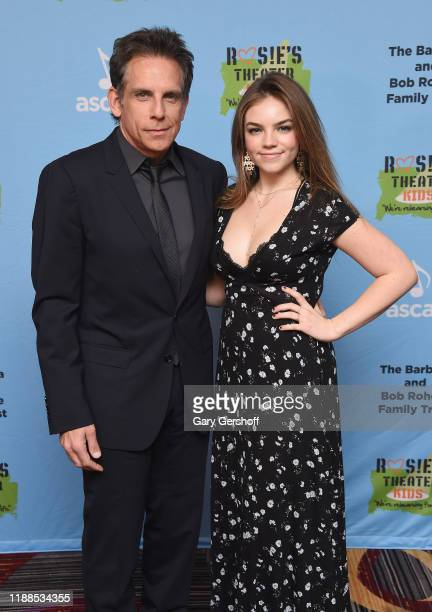 Event honoree Ben Stiller and daughter Ella Olivia Stiller attend 2019 Rosie's Theatre Kids Fall Gala at The New York Marriott Marquis on November 18...