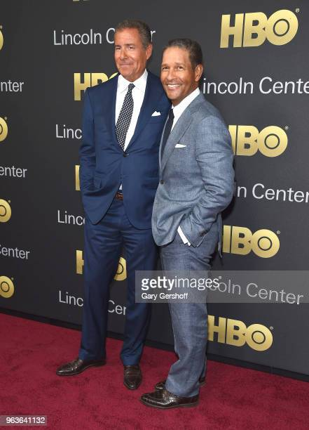 Event honoree chairman CEO of HBO Richard Plepler and Bryant Gumbel attend the 2018 Lincoln Center American Songbook gala honoring HBO's Richard...