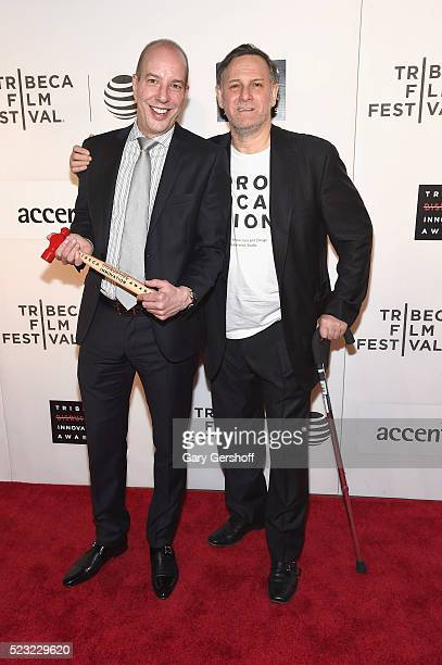 Event honoree Civil Liberty Defender Anthony D Romero and Tribeca Film Festival cofounder Craig Hatkoff attend the Tribeca Disruptive Innovation...
