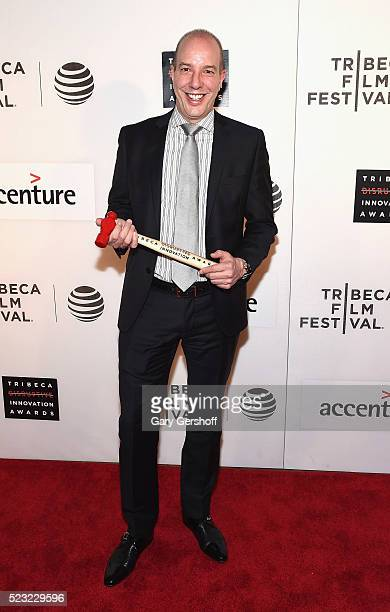 Event honoree Civil Liberty Defender Anthony D Romero attends the Tribeca Disruptive Innovation Awards during 2016 Tribeca Film Festival at John...