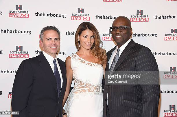 Event honoree David Weinreb Ana Laspetkovski and Dr Thomas Howard Jr attend the 2015 Boys Girls Harbor 'Salute To Achievement' Benefit at The Plaza...