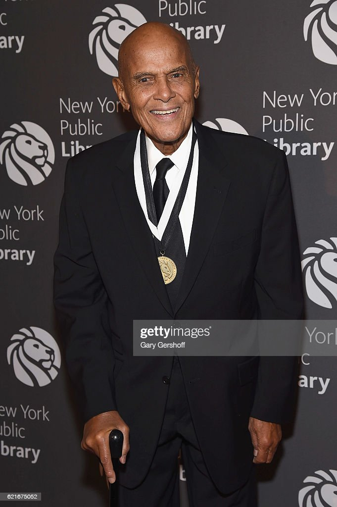 Event honoree Harry Belafonte attends the 2016 Library Lions gala at New York Public Library - Stephen A Schwartzman Building on November 7, 2016 in New York City.
