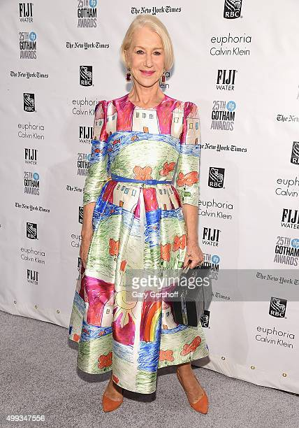 Event honoree Helen Mirren attends the 25th Annual Gotham Independent Film Awards at Cipriani Wall Street on November 30 2015 in New York City