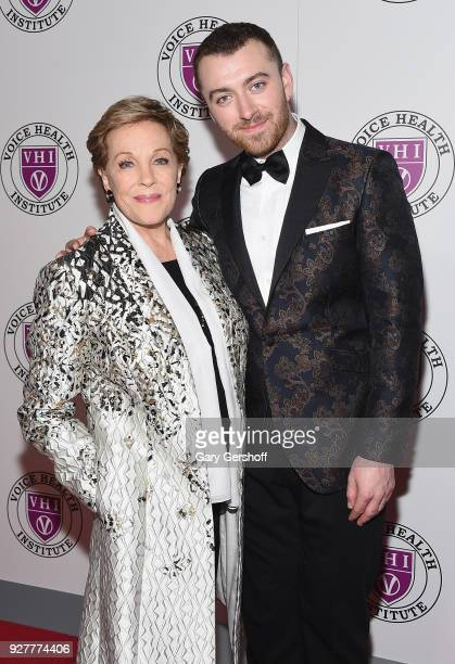 Event honoree Julie Andrews and singer Sam Smith attend the 'Raise Your Voice' concert honoring Julie Andrews at Alice Tully Hall Lincoln Center on...