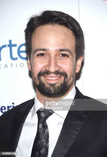 Event honoree LinManuel Miranda attends the 2018 Hispanic Federation's 'Rising Stronger' Spring gala at American Museum of Natural History on April...