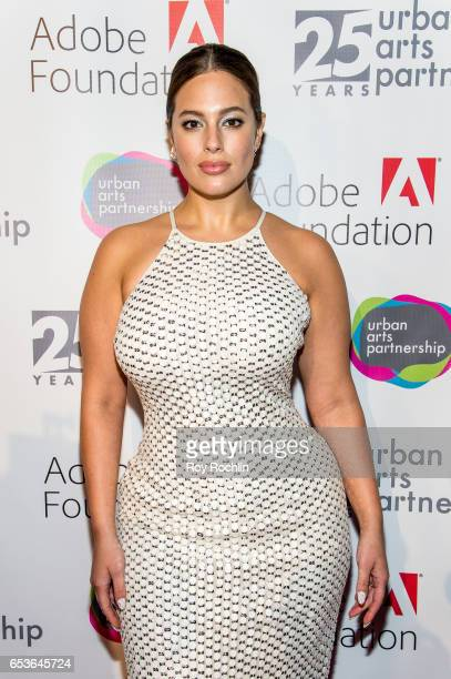 Event honoree, model Ashley Graham attends the Urban Arts Partnership 25th Anniversary Benefit at Cipriani Wall Street on March 15, 2017 in New York...