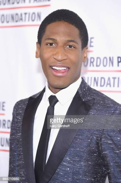 Event honoree musician and band leader Jon Batiste attends the 2017 Gordon Parks Foundation Awards gala at Cipriani 42nd Street on June 6 2017 in New...