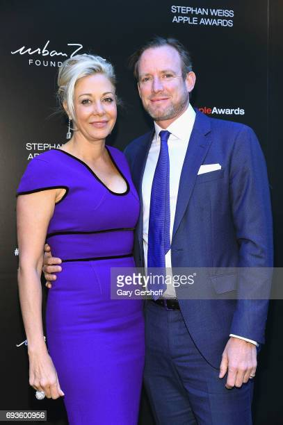 Event honoree Nadja Swarovski and Rupert Adams attend the 2017 Stephan Weiss Apple Awards at The Urban Zen Center on June 7, 2017 in New York City.