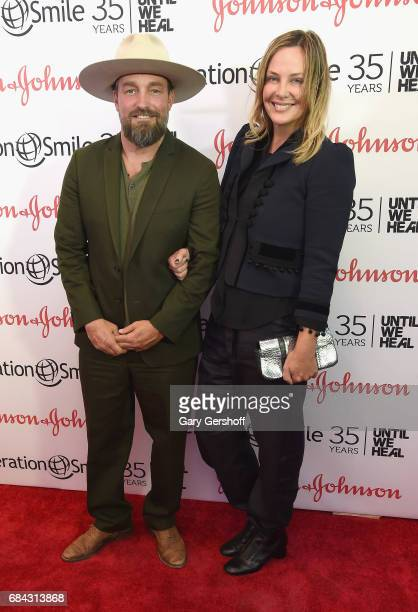 Event honoree photographer Brian Bowen Smith and Shea Bowen Smith attend the 35th Anniversary of Operation Smile at West Edge on May 17 2017 in New...