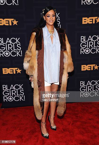 Event honoree Rihanna attends Black Girls Rock 2016 at New Jersey Performing Arts Center on April 1 2016 in Newark New Jersey