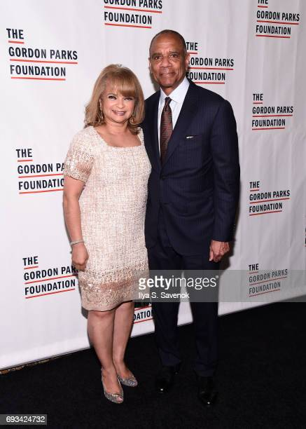 Event honorees Kathryn Chenault and Kenneth Chenault attend the 2017 Gordon Parks Foundation Awards Gala at Cipriani 42nd Street on June 6 2017 in...