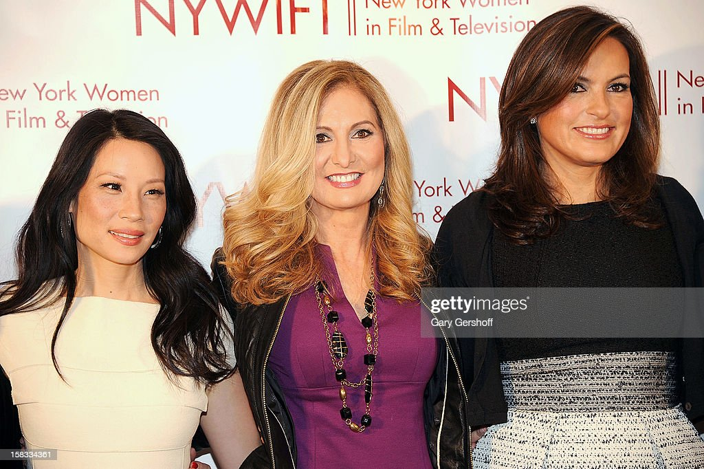 Event honorees Lucy Liu, Kim Martin and Mariska Hargitay attend the 2012 New York Women In Film And Television Muse Awards at the Hilton New York on December 13, 2012 in New York City.