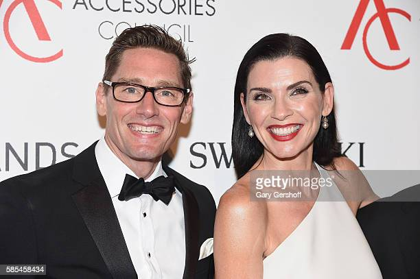 Event honorees 'The Good Wife' costume designer Daniel Lawson and actress Julianna Margulies attend the 2016 Accessories Council ACE Awards at...
