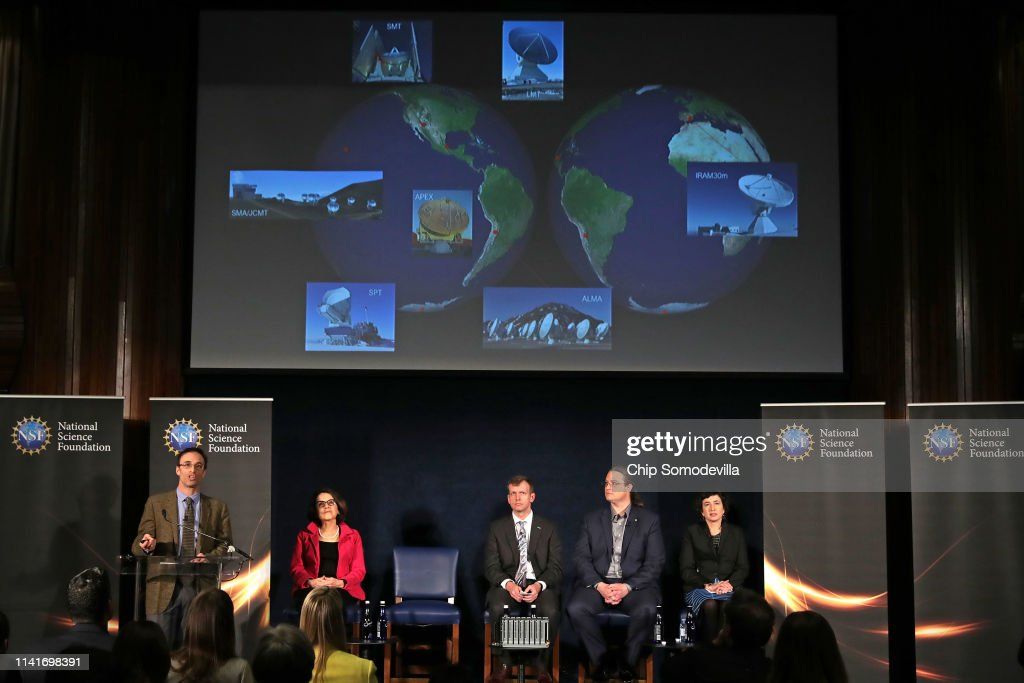 National Science Foundation Holds News Conference On First Results From Event Horizon Telescope Project : News Photo